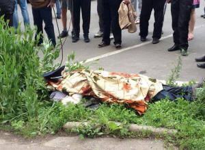 Policeman shot by Right Sector in Mariupol